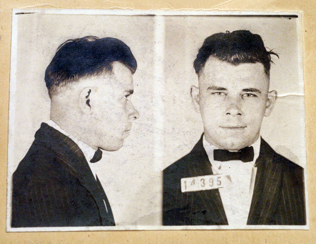FILE - This file photo shows Indiana Reformatory booking shots of John Dillinger, stored in the ...