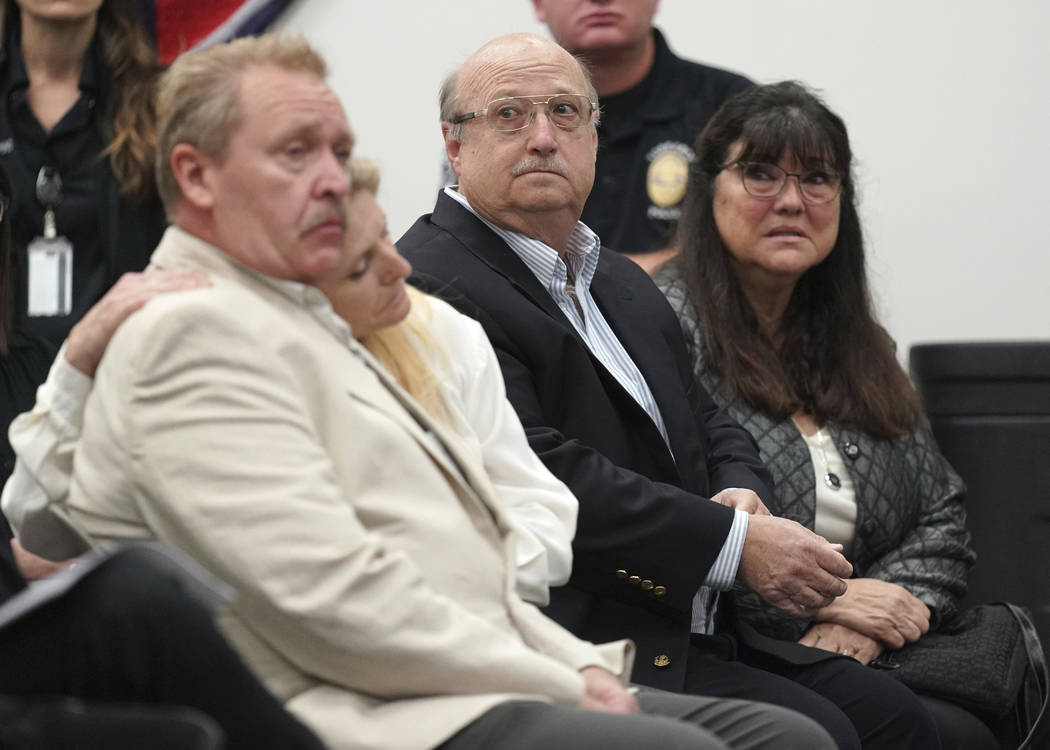 Terri Lynn Hollis' family listens during a news conference in Torrance, Calif. on Wednesday, Se ...