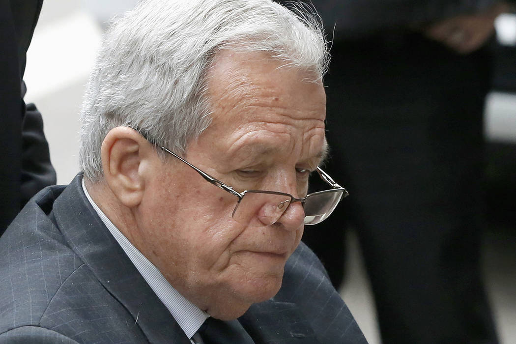FILE - In this April 27, 2016, file photo, former House Speaker Dennis Hastert leaves the feder ...