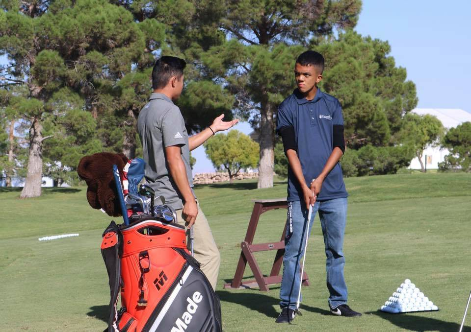Collin Morikawa (left), 22, is already a PGA Tour champion and scheduled to play in the Shriner ...