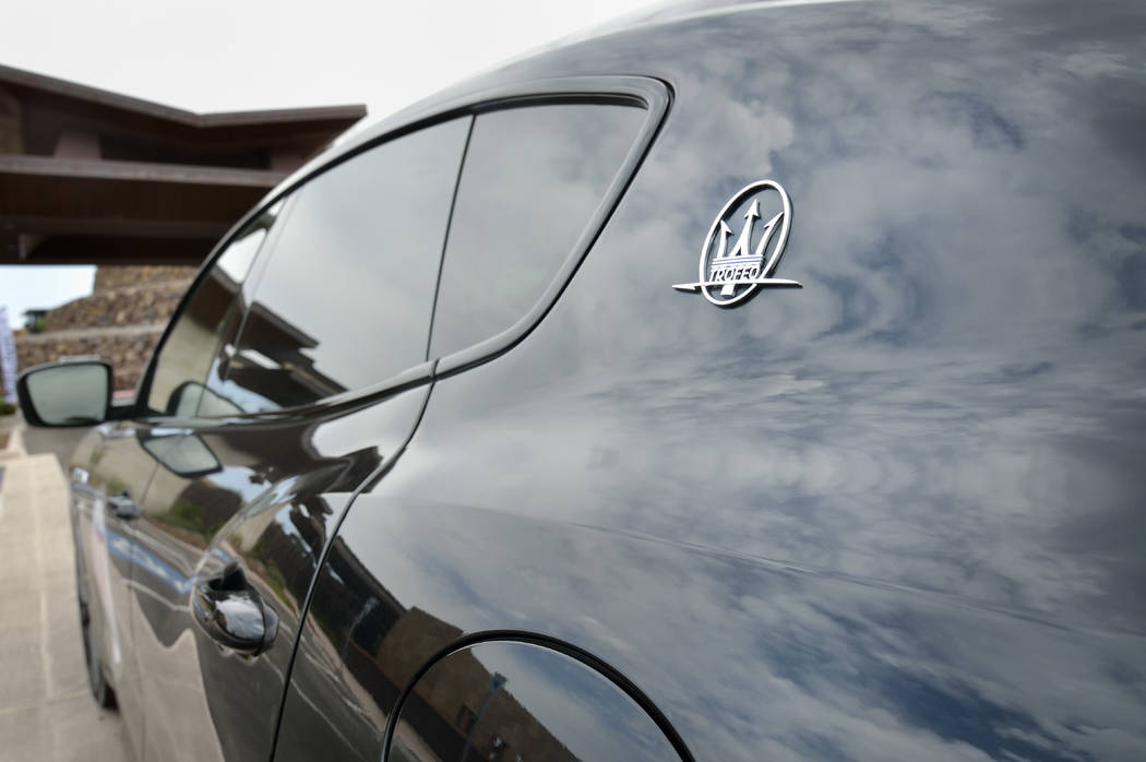 Clouds are reflected on the surface of a 2019 Maserati Levante Trofeo during the Robb Report Dr ...