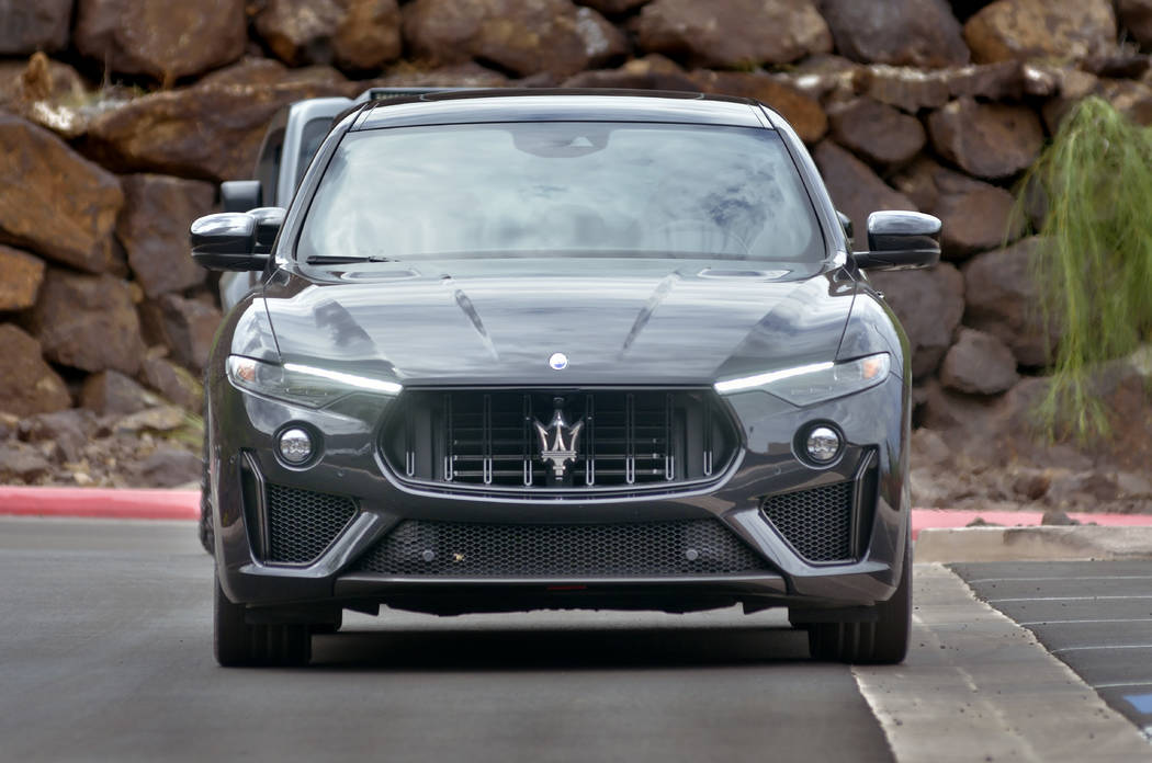 A 2019 Maserati Levante Trofeo is shown during the Robb Report's exclusive Ascaya event. (Bill ...