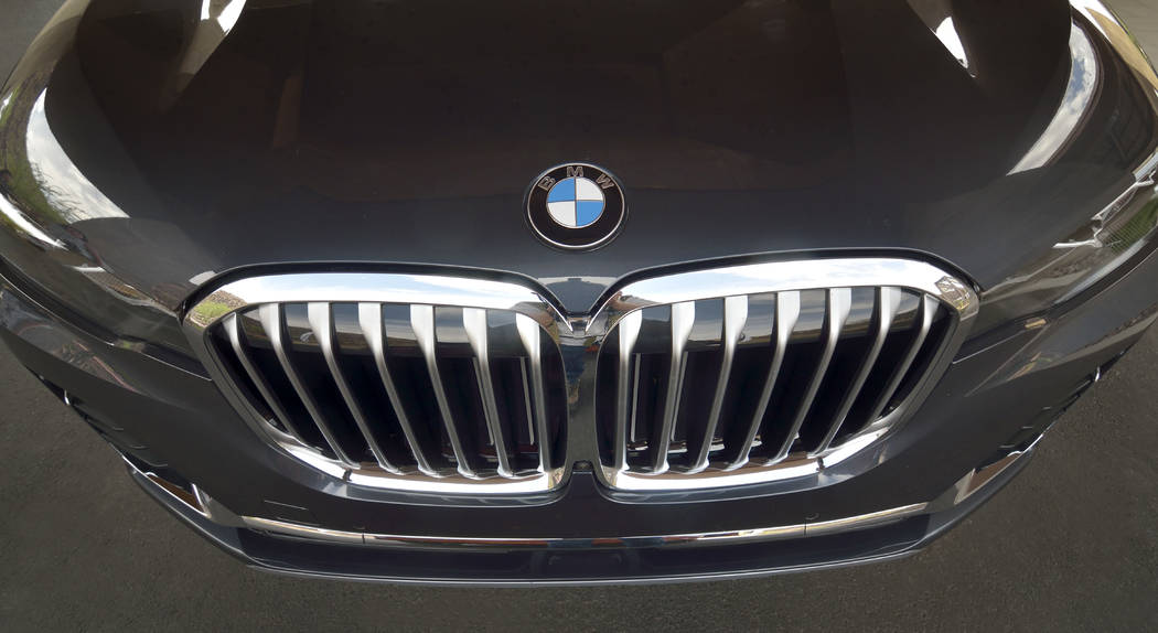 The front end of a 2019 BMW X7 xDrive 40i. (Bill Hughes/Real Estate Millions)