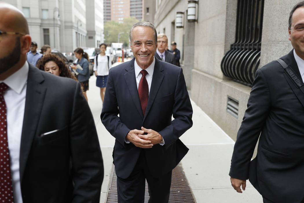 U.S. Rep. Chris Collins, R-N.Y., leaves the courthouse after a pretrial hearing in his insider- ...