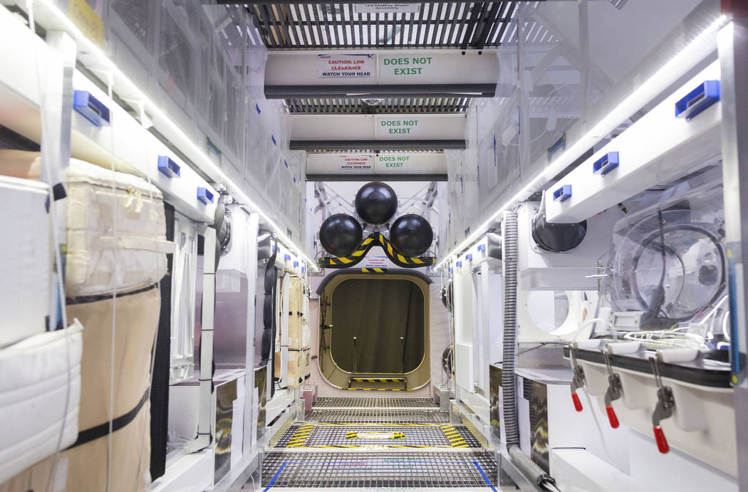 The main translation path for the B330 Mars Transporter Testing Unit at Bigelow Aerospace in No ...