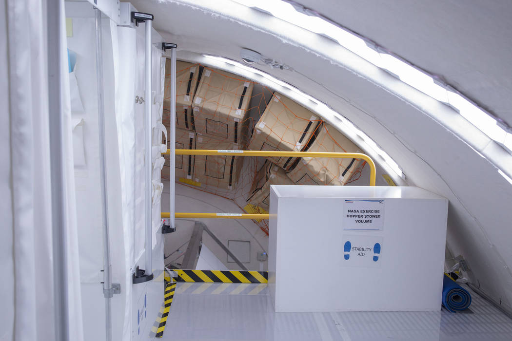 Storage space on the B330 Mars Transporter Testing Unit at Bigelow Aerospace in North Las Vegas ...