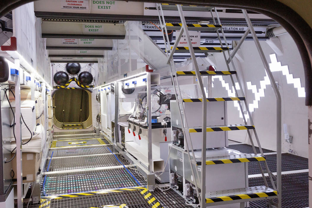 The B330 Mars Transporter Testing Unit module is seen during a tour at Bigelow Aerospace in Nor ...