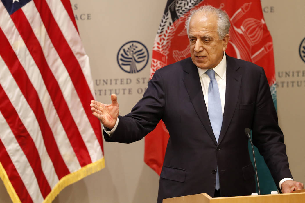 FILE - In this Feb. 8, 2019 file photo, Special Representative for Afghanistan Reconciliation Z ...