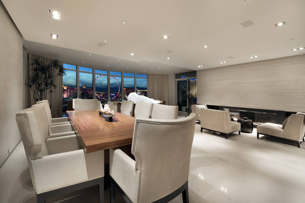 The dining room of the Park Towers condo. (Ivan Sher Group)