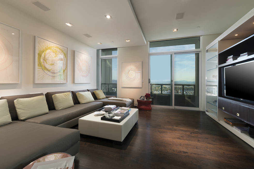 The condo's media room. (Ivan Sher Group)