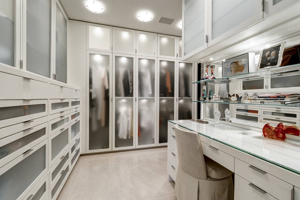 The Park Towers condo's master suite has a large closet.( Ivan Sher Group)
