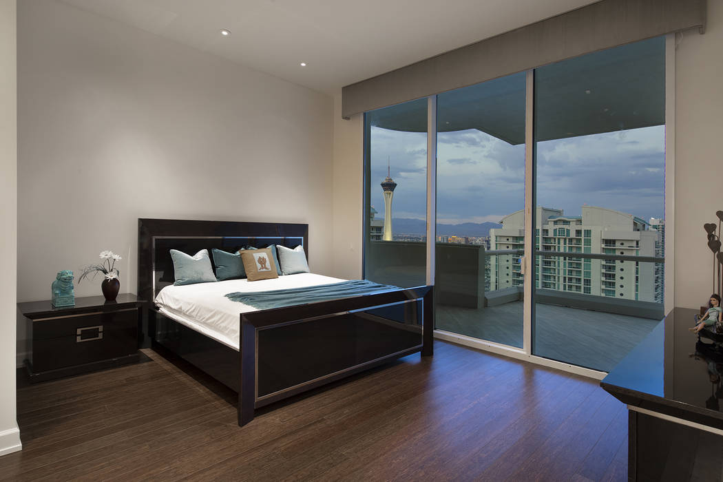 The Turnberry Place penthouse measures 6,421 square feet with four large bedrooms and six baths ...