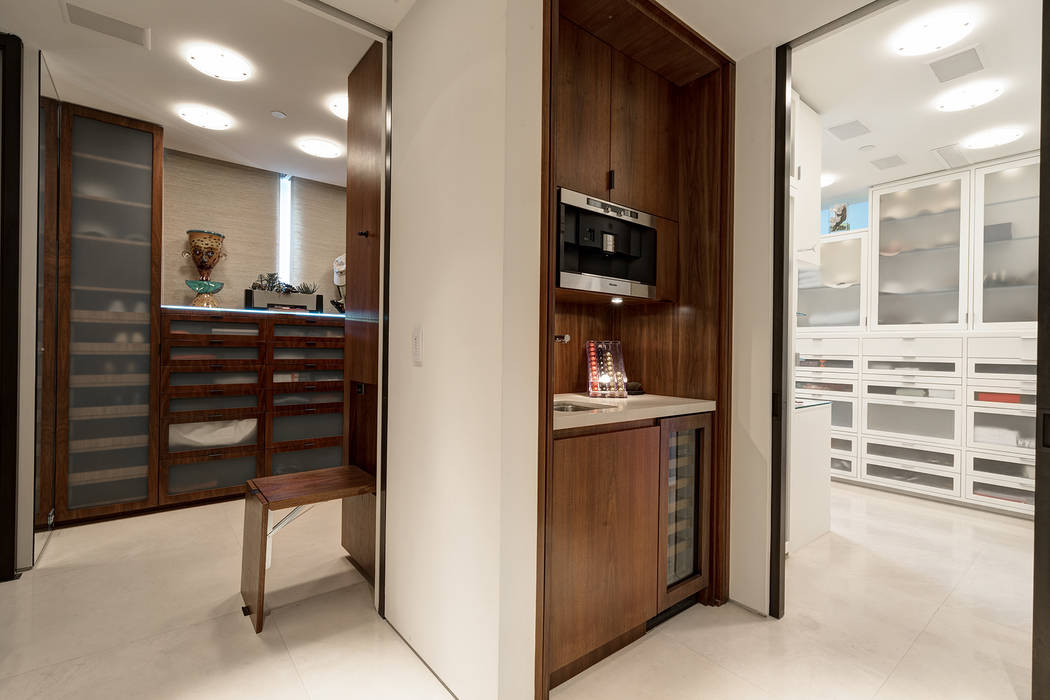 The master suite has a morning kitchen between the two closets. (Ivan Sher Group)