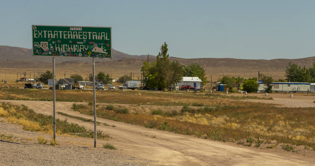 "The Little A'Le'Inn property beside the ""Extraterrestrial Highway"" will be ground zer ..."