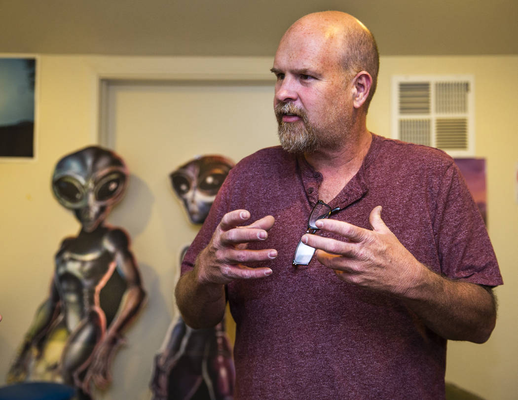 Keith Wright with Production Specialists is helping to coordinate events at the Alien Research ...