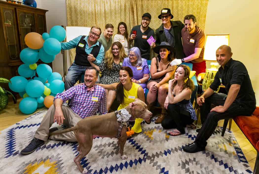 The group comes together for a photo ending the Oakey Family Supper Club event on Monday, Sept. ...