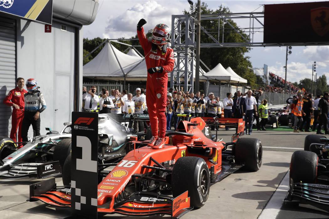 Ferrari F1 S Charles Leclerc Starts Win Streak In Las Vegas Las Vegas Review Journal