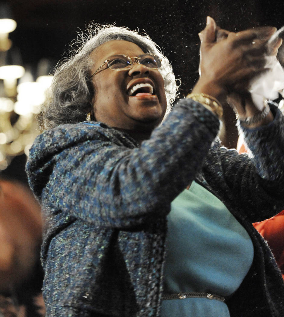 FILE - In this Monday, Jan. 21, 2013 file photo, Juanita Abernathy, widow of civil rights leade ...