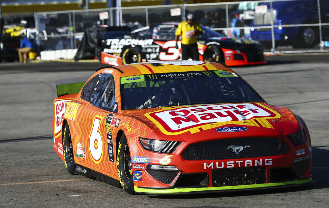Ryan Newman (6) heads to the track during qualifying for the Monster Energy NASCAR Cup Series S ...