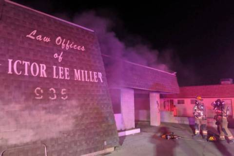 The Las Vegas Fire Department put out a fire at a vacant office building at 935 S. Decatur Blvd ...