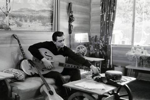 Johnny Cash at his home in California, 1960. Credit: Sony Music Archives