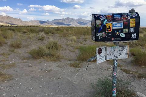 The Black Mailbox between mile markers 29 and 30 along Nevada 375 (Christopher Lawrence/Las Veg ...