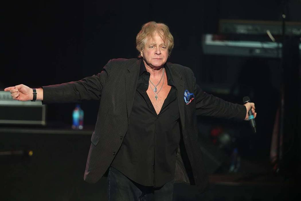 In this Nov 16, 2017 photo, Eddie Money performs at the Hard Rock Hotel and Casino's the Joint ...