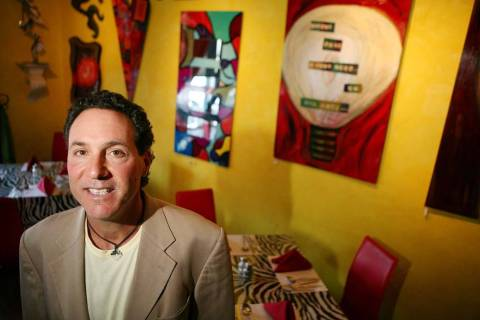 Pasta Shop & Ristorante chef and owner David Alenik at his restaurant on Tropicana Avenue in La ...