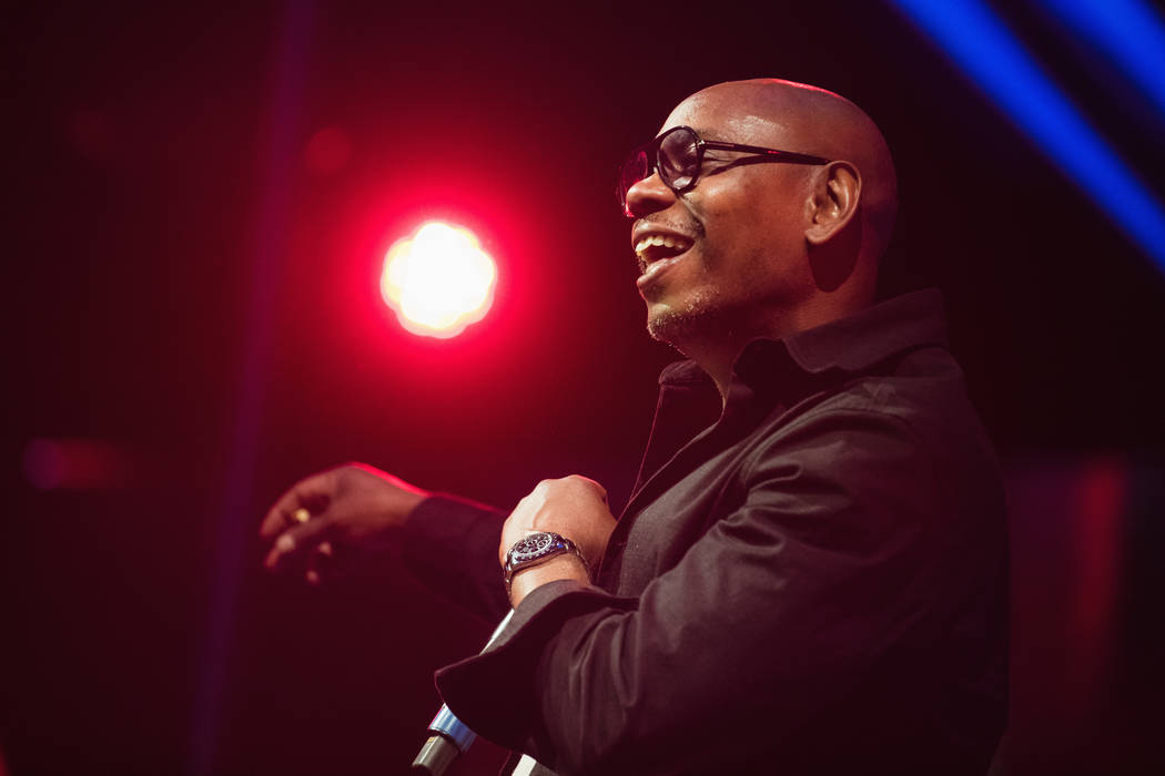 Superstar comic Dave Chappelle is shown at Drai's Nightclub at the Cromwell on Sunday, Dec. 30, ...