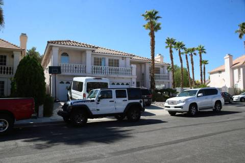 A home on Bahama Bay Court that was converted into a rehab center, in Las Vegas, Thursday, Aug. ...