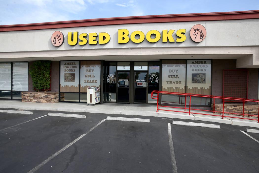 Amber Unicorn Books at 2101 S. Decatur Blvd. in Las Vegas, Thursday, Sept. 5, 2019. (K.M. Canno ...