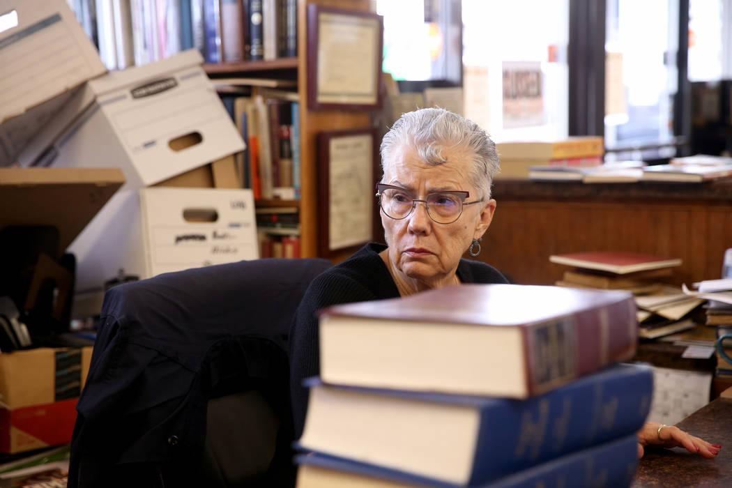 Myrna Donato, owner of Amber Unicorn Books at 2101 S. Decatur Blvd. in Las Vegas, Thursday, Sep ...