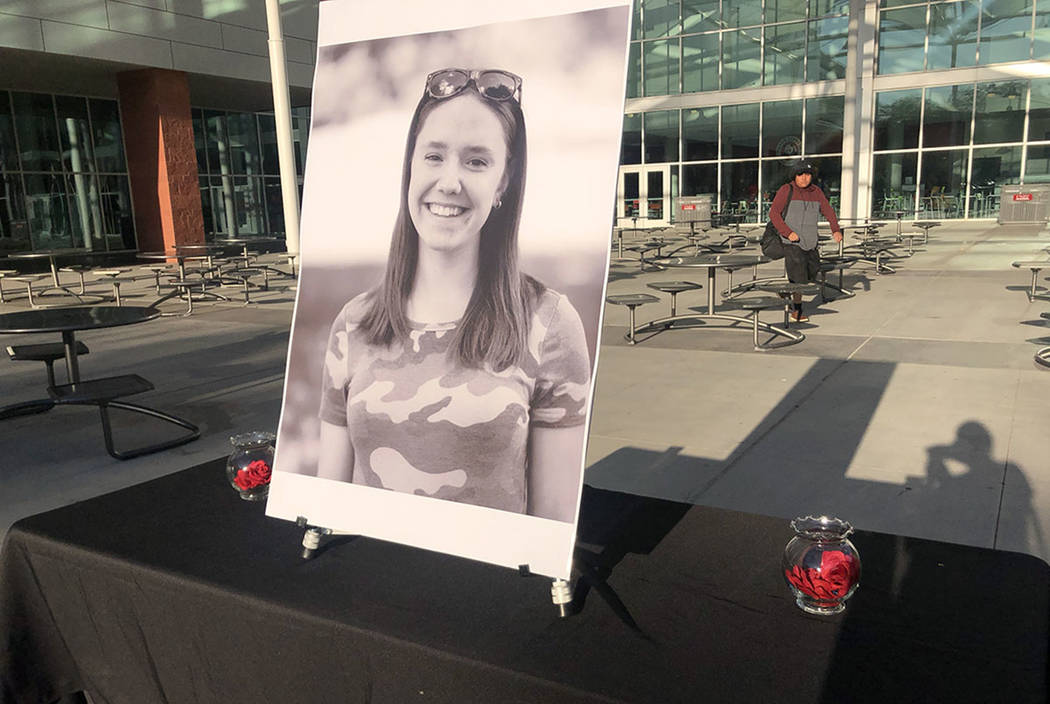 Paula Davis, 19, was found fatally shot at a North Las Vegas park on September 6, 2019. Her ex- ...