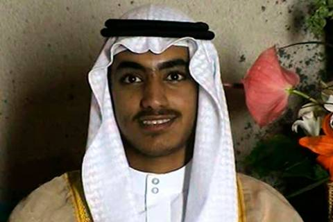 In this image from video released by the CIA, Hamza bin Laden, the son of of the late al-Qaida ...