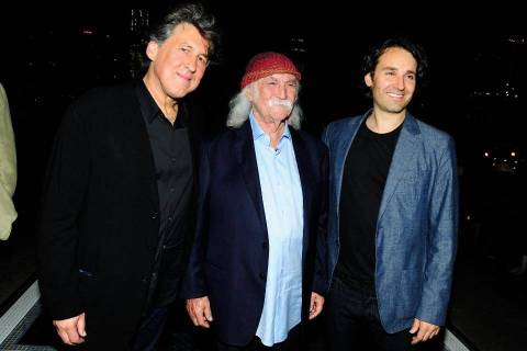 "The triumvirate behind ""David Crosby: Remember My Name,"" from left: Cameron Crowe, Crosby and A ..."