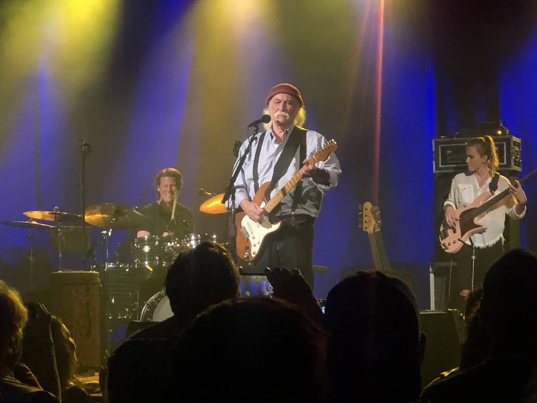 David Crosby and the Sky Trails Band perform at Red Rock Ballroom on Friday, Sept. 13, 2019. (J ...