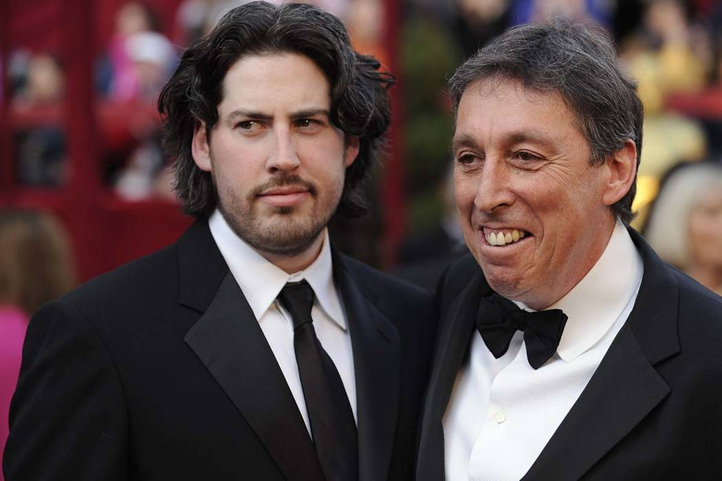 In this Feb. 24, 2008 file photo, Jason Reitman, left, an Oscar nominee for best director for h ...