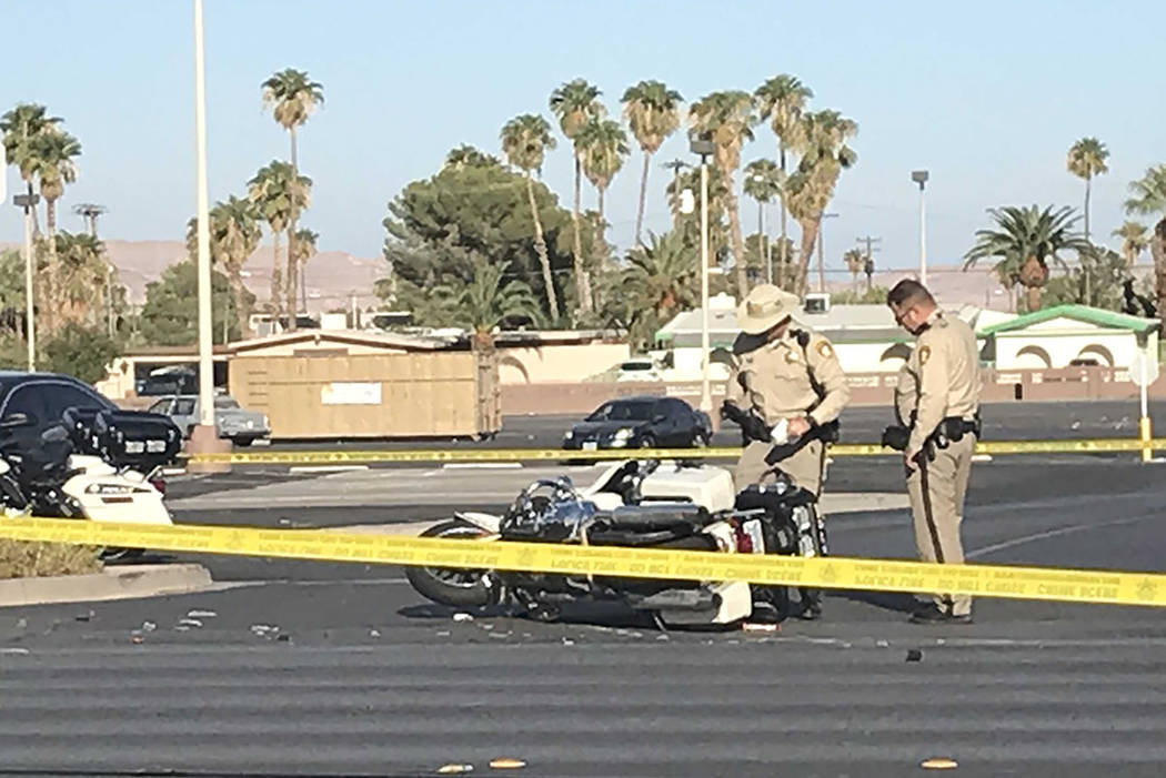 A Las Vegas police officer was transported to University Medical Center on Saturday, Sept. 14, ...