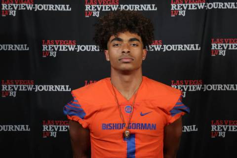 Bishop Gorman's Micah Bowens is a member of the Nevada Preps all-state football team.