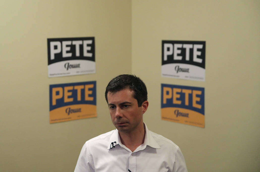 FILE - In this Aug. 15, 2019, file photo, Democratic presidential candidate South Bend Mayor Pe ...