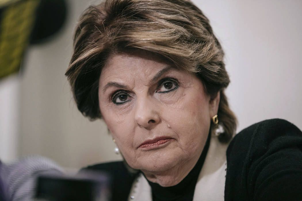 FILE- In this March 10, 2019 file photo, attorney Gloria Allred takes questions during a press ...