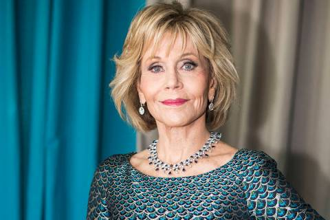 FILE- In this May 12, 2018 file photo, actress Jane Fonda poses during a portrait session at th ...
