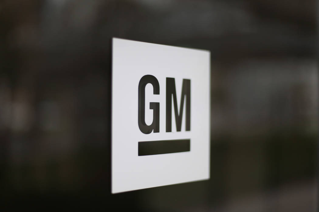 This May 16, 2014, file photo shows the General Motors logo at the company's world headquarters ...