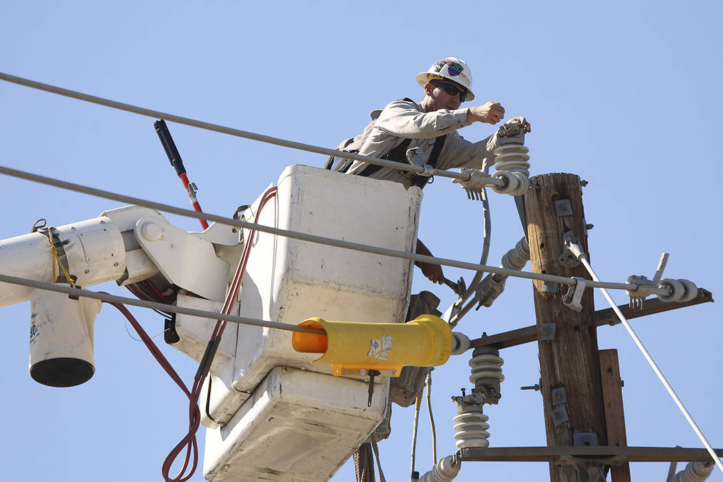 FILE: More than 13,000 NV Energy customers are without power Sunday morning after damage to equ ...