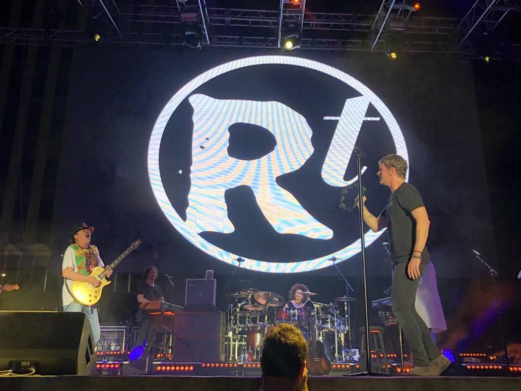 Carlos Santana and Rob Thomas perform at Bite of Las Vegas at Downtown Las Vegas Events Center ...
