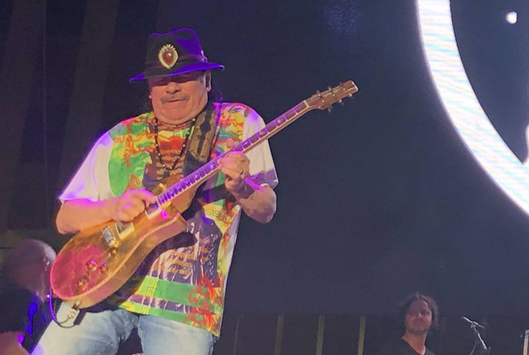 Carlos Santana and Rob Thomas perform at Bite of Las Vegas at Downtown Las Vegas Events Center ...