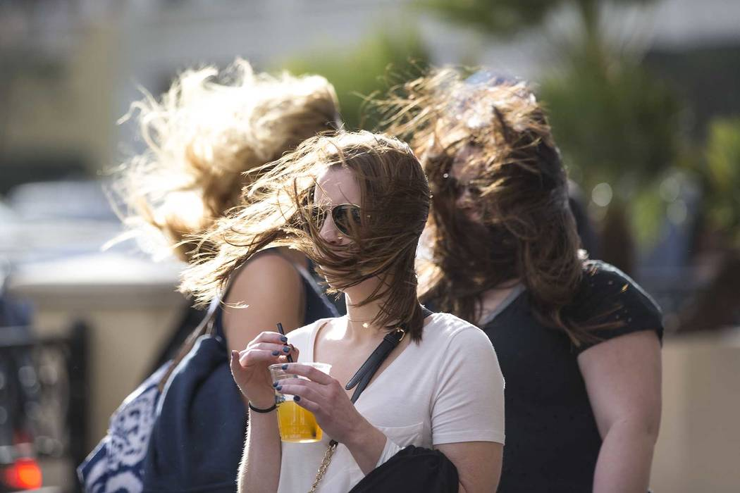 Gusty winds are expected Monday afternoon in the Las Vegas Valley. (Richard Brian/Las Vegas Rev ...