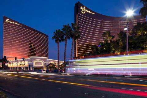 Encore and Wynn Las Vegas on the Las Vegas Strip. (Richard Brian Las Vegas Review-Journal)@vega ...