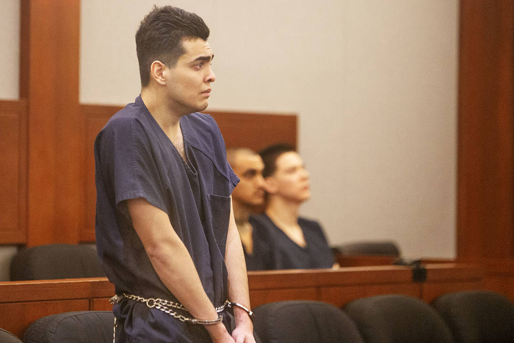 Alexander Brewer stands during his sentence in which he pleaded guilty in a DUI crash that kill ...