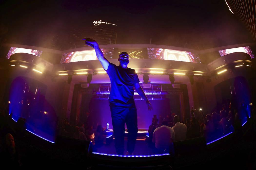 Drake is shown at XS Nightclub at Wynn Las Vegas on Saturday, Sept. 14, 2019. (Wynn Nightlife)